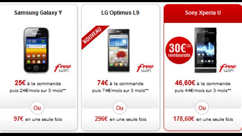 Free Mobile : Une offre de remboursement sur le Sony Xperia U