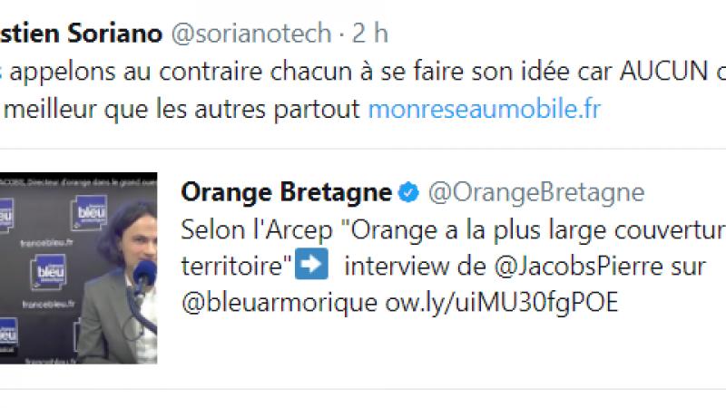 Carte de l'ARCEP : quand Orange tire la couverture de son côté, Sébastien Soriano n'est jamais bien loin