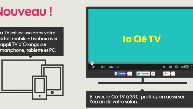 La Clé TV d'Orange et l'application TV dédiée arrivent sur Sosh Mobile + Livebox