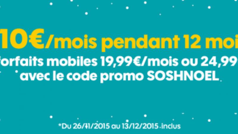 Sosh : une remise de 10€ pendant 1 an sur les forfaits à 19.99€ et 24.99€/mois