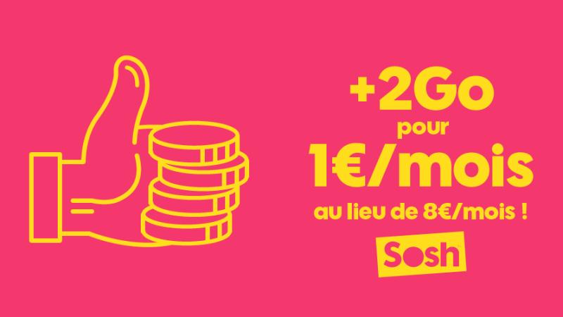 Face aux abonnés qui demandent plus de data comme chez Free, Sosh lance une offre à 1€ pour +2Go