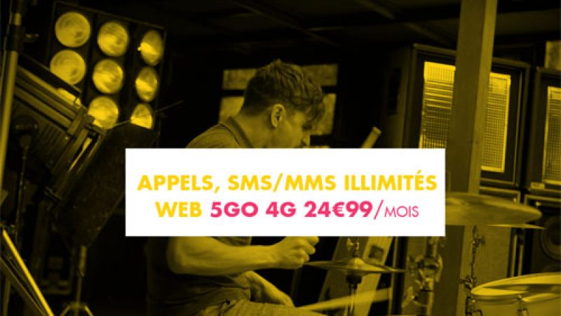 Sosh a ajouté la 4G aujourd'hui, mais uniquement dans son forfait à 24,99€