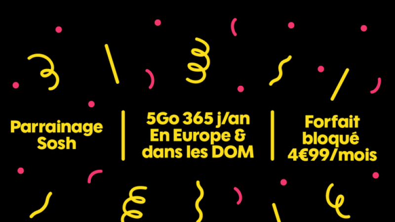 Sosh  : 5 Go de Data depuis l'Europe et les DOM sans limite de temps