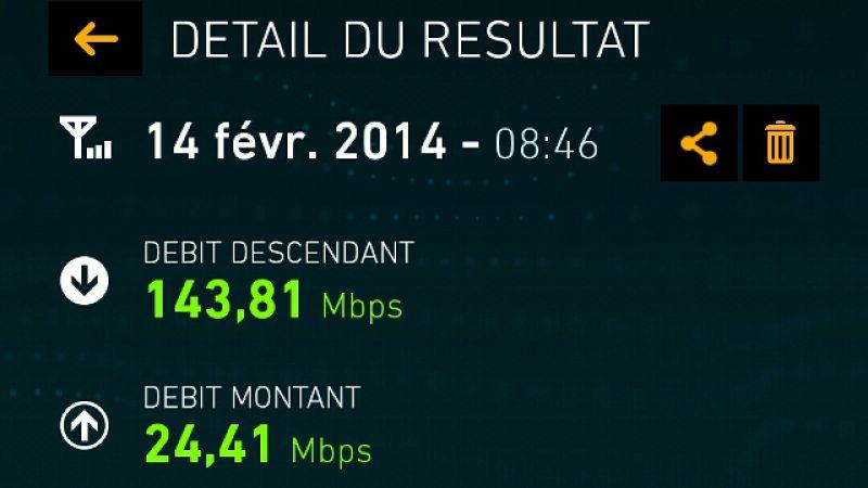 143,81 Mb/s sur le réseau 4G de Free Mobile. Qui dit mieux ?