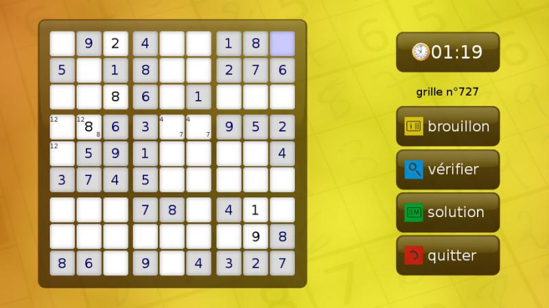 Freebox Révolution : Le jeu Sudoku est disponible sur le freestore