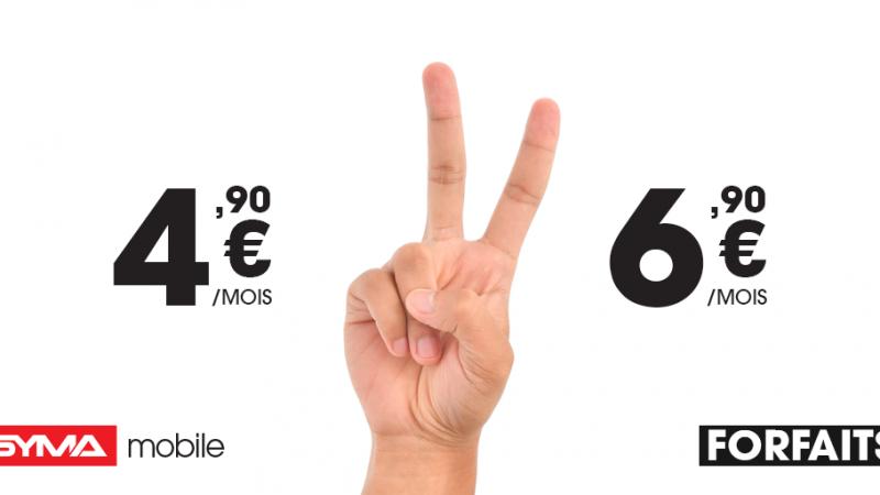 """Après son forfait à 1,90€, Syma mobile lance 2 nouveaux """"petits"""" forfaits, à 4,90€ et 6,90€"""