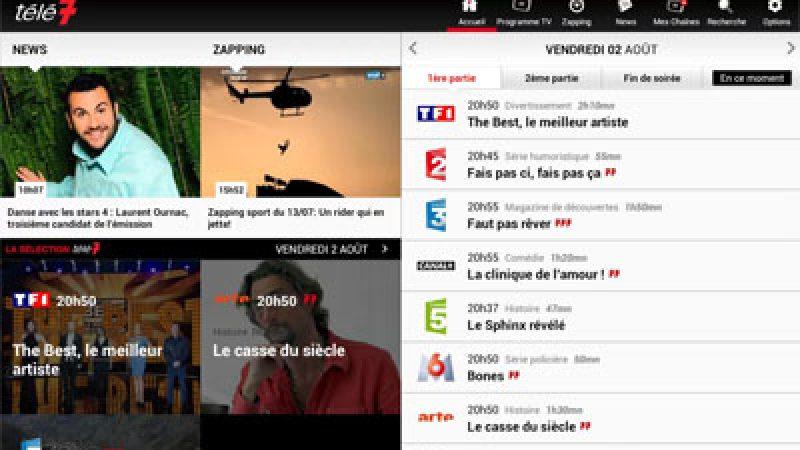 Télé 7 Jours ajoute le contrôle de la Freebox dans son application Android