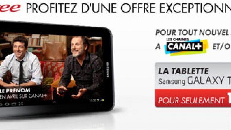 Canalsat/Canal+ : une Galaxy Tab 2 pour 1€ de plus pour les abonnés Freebox