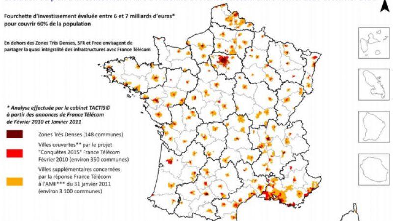 FTTH : Prévisions de déploiement d'Orange et partage avec Free et SFR