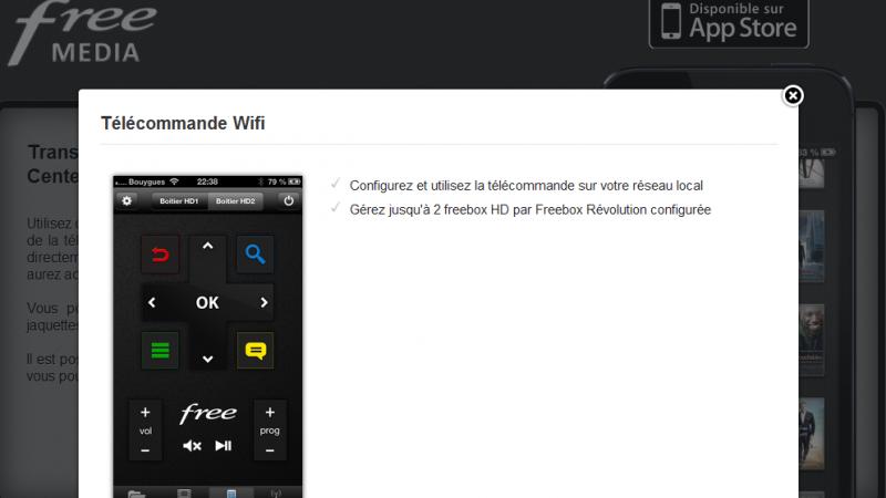 Free Média : une application qui permet de gérer sa Freebox de la télécommande au disque dur