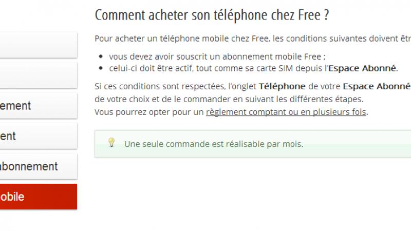 Free Mobile : Les achats de téléphones plafonnés à un par mois