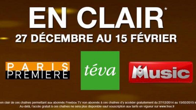5 nouvelles chaînes offertes en décembre et janvier sur Freebox TV : Paris Première, Téva, etc….