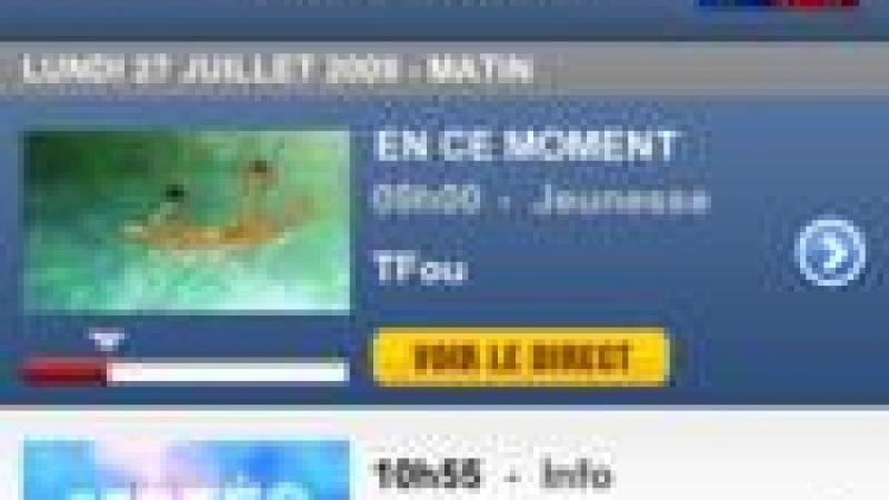 """Lancement de """"TF1 Player"""" pour regarder la chaîne sur les téléphones mobiles"""
