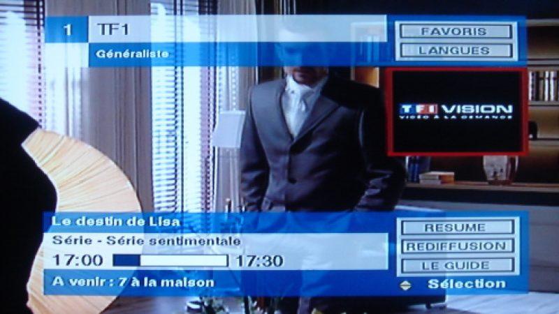 TF1 Vision disponible aussi !