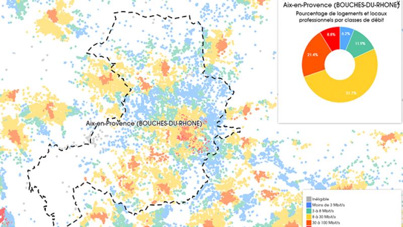 Découvrez les cartes du déploiement très haut débit à Aix en Provence