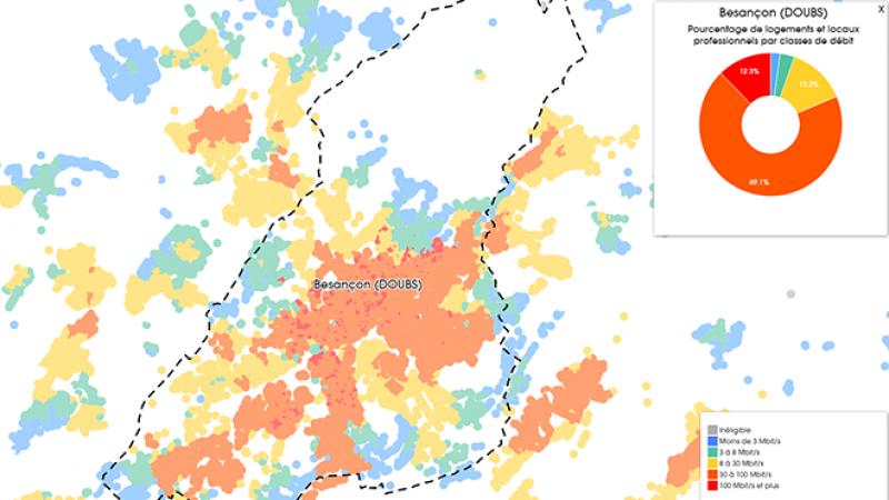 Découvrez les cartes du déploiement très haut débit à Besançon