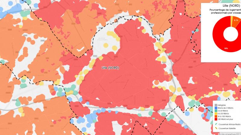 Découvrez les cartes du déploiement très haut débit à Lille