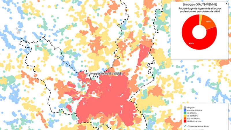 Découvrez les cartes du déploiement très haut débit à Limoges