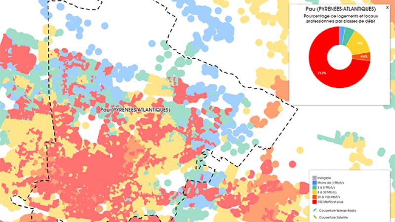 Découvrez les cartes du déploiement très haut débit à Pau