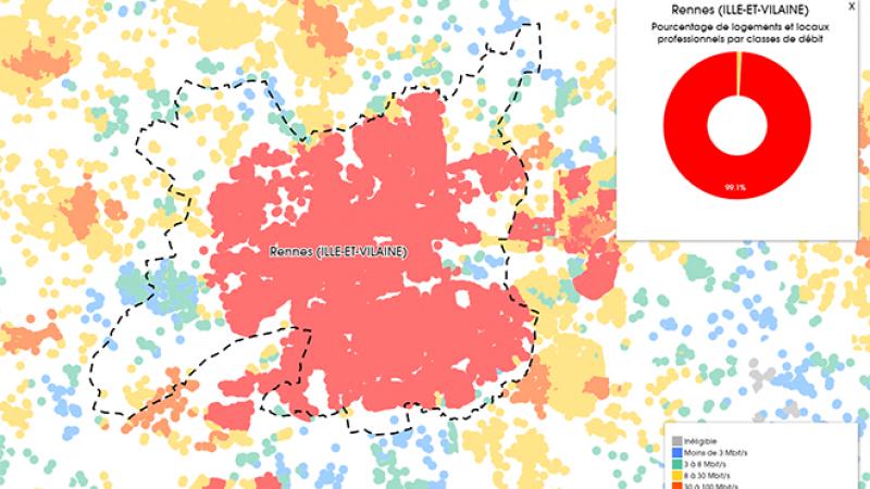 Découvrez les cartes du déploiement très haut débit à Rennes