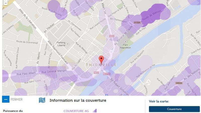 Couverture et débit 4G Free Mobile : Focus sur Thionville