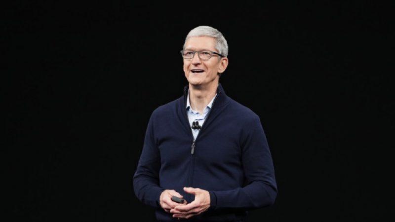 Tim Cook rend visite à une entreprise française à l'origine du Face ID de l'iPhone X