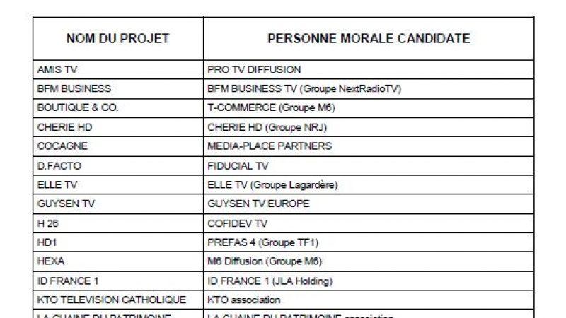 Nouvelles chaînes TNT : 31 dossiers déposés au CSA