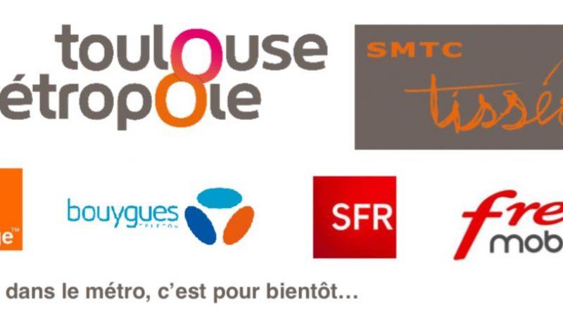 Free, Orange, SFR et Bouygues signent un accord pour apporter la 2G/3G/4G dans le métro toulousain
