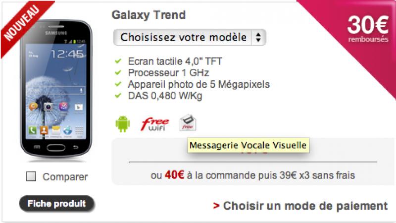 Free Mobile : Nouvelle indication des téléphones compatibles MVV