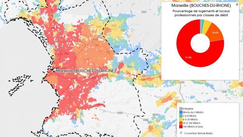Découvrez les cartes du déploiement très haut débit à Marseille