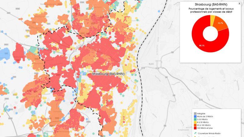 Découvrez les cartes du déploiement très haut débit à Strasbourg