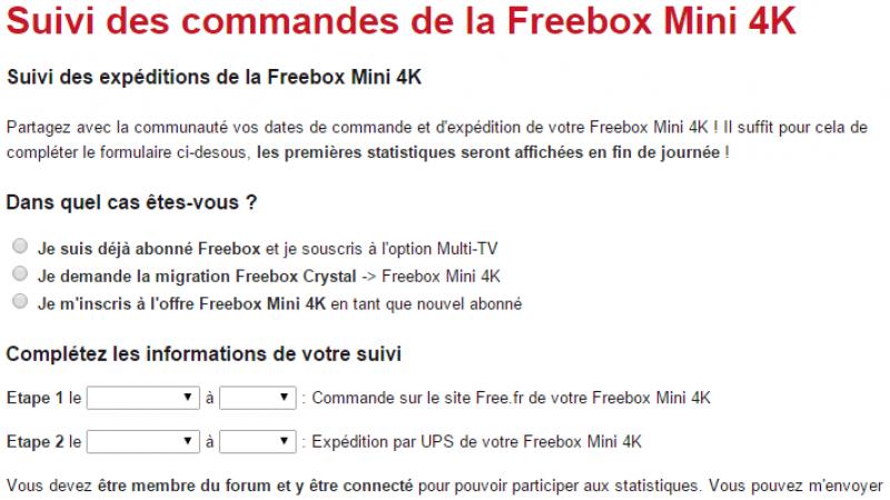 Freebox.toosurtoo.com lance un suivi des commandes de Freebox mini 4K