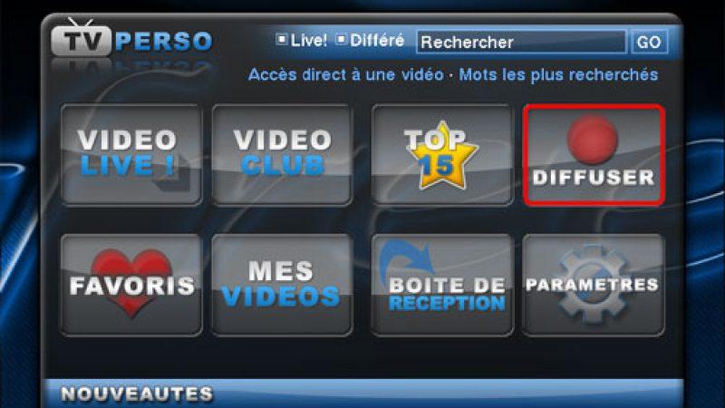 TV Perso: Comment diffuser une video