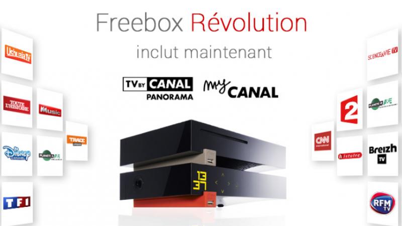 Freebox Révolution avec TV by Canal : les chaînes retirées seront remplacées par d'autres équivalentes