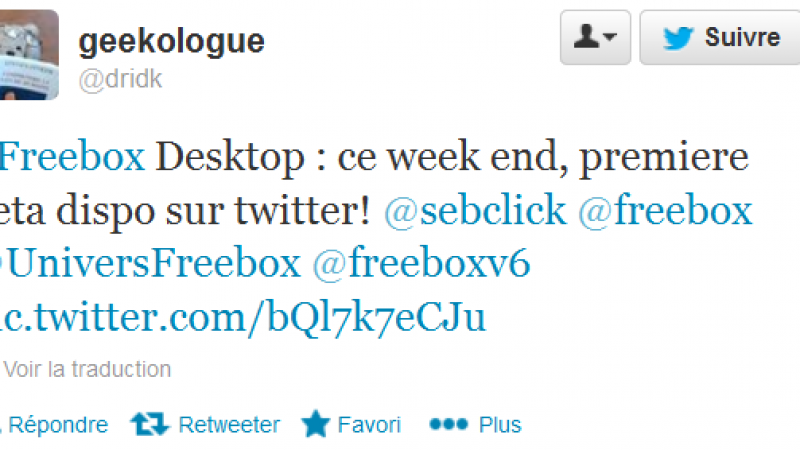 Freebox Desktop débarque en version Bêta ce week-end