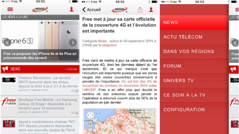 L'application Univers Freebox est désormais compatible avec iOS 9