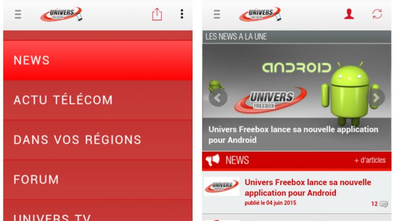 Une mise à jour est disponible pour la version Android d'Univers Freebox