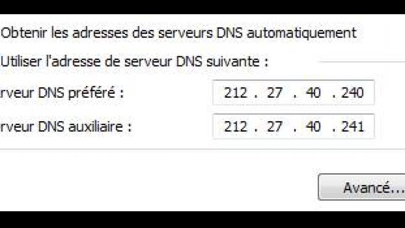 Free : Nouvelles adresses de serveurs DNS