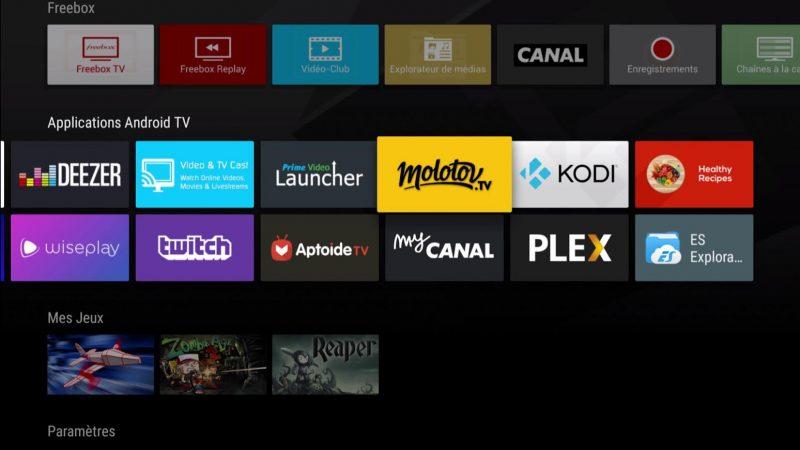 Freebox Mini 4k : Molotov TV lance une nouvelle mise à jour sur Android TV