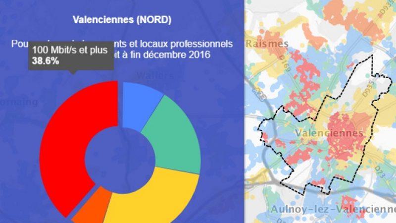 Découvrez les cartes du déploiement très haut débit de Valenciennes