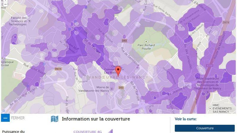 Couverture et débit 4G Free Mobile : Focus sur Vandoeuvre-les-Nancy