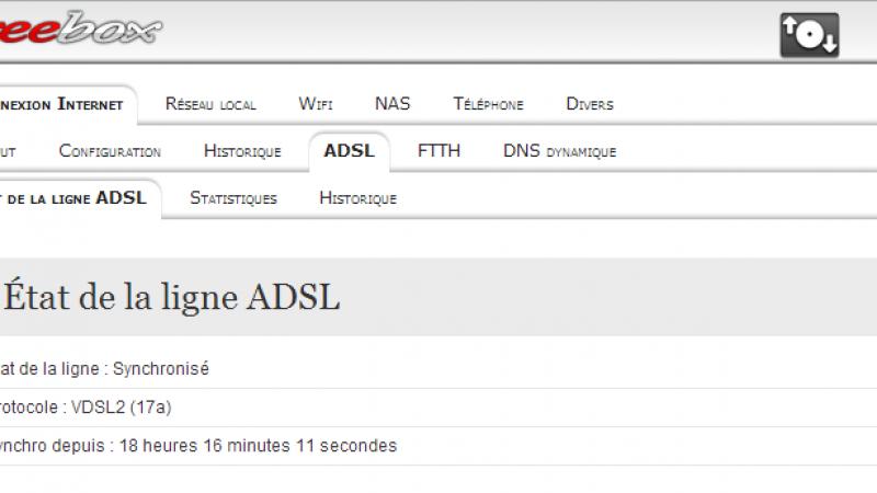 Free : test de débits en VDSL2 sur une ligne de 1100m