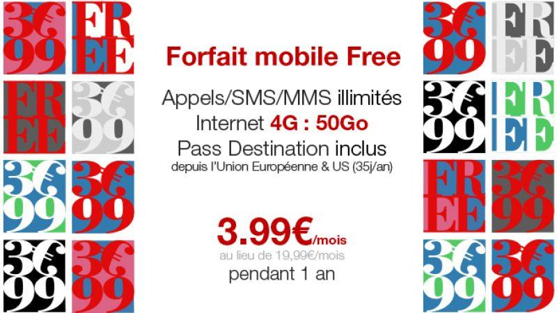 La vente privée du forfait mobile Free 50 Go à 3.99€/mois est prolongée