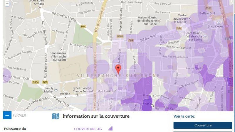 Couverture et débit 4G Free Mobile : Focus sur Villefranche-sur-Saône