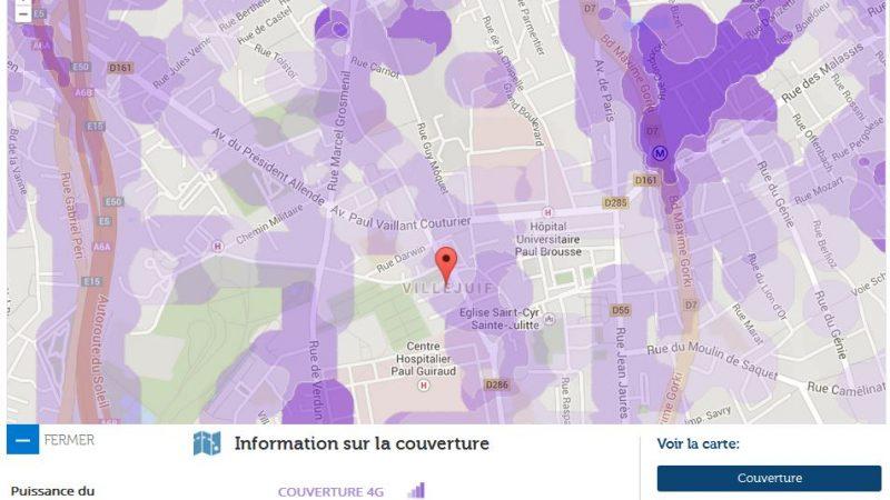 Couverture et débit 4G Free Mobile : Focus sur Villejuif
