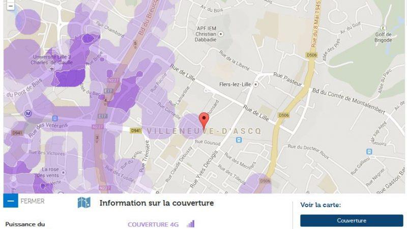 Couverture et débit 4G Free Mobile : Focus sur Villeneuve d'Ascq