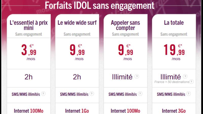 Virgin Mobile : La 4G, sans surcoût, dans le forfait « IDOL (S) Illimité 3Go »
