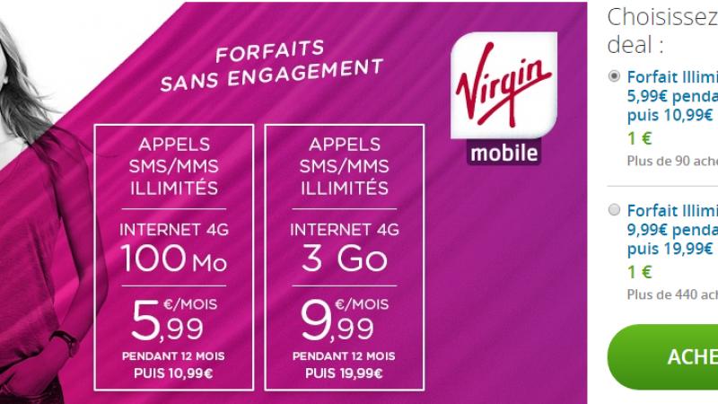 Virgin Mobile s'invite sur Groupon et enchaîne les offres promotionnelles