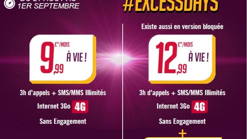 Virgin Mobile : nouvelle prolongation de son offre ExcessDays à 9,99 €/mois