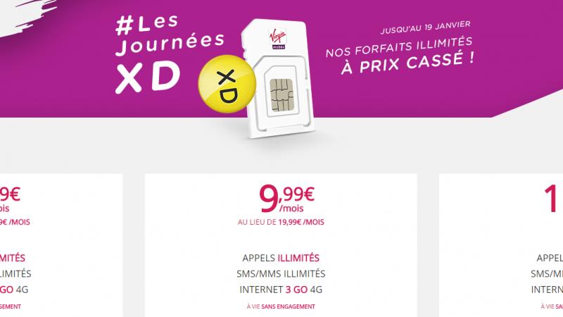De l'illimité à partir de 5.99 euros par mois chez Virgin Mobile